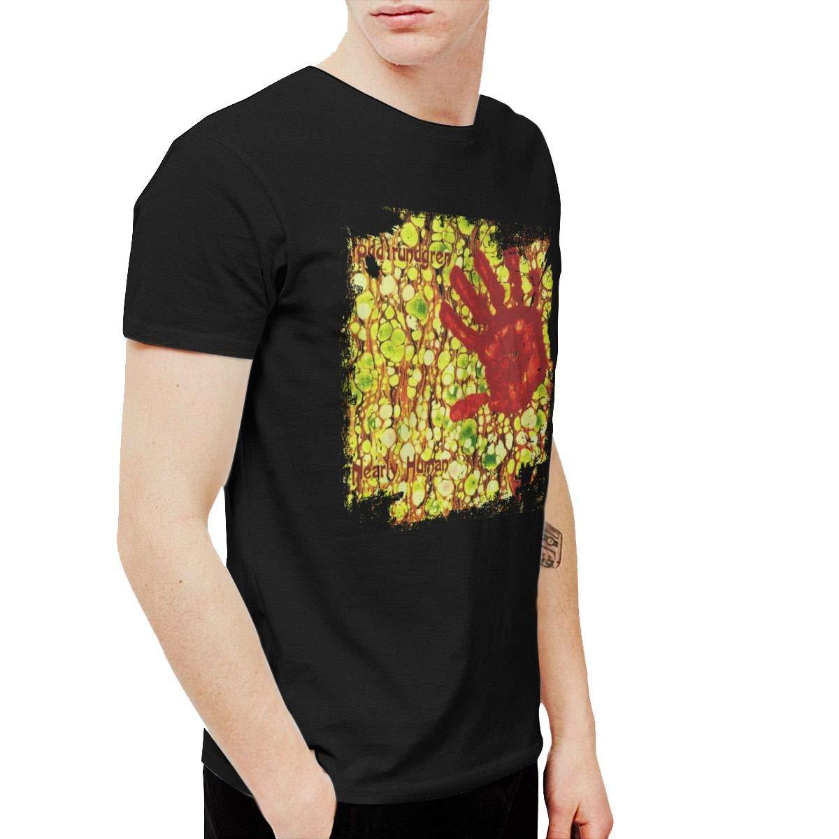 XLBSFJIWVD Todd Rundgren Nearly Human Mens Short Sleeve T-Shirt Black