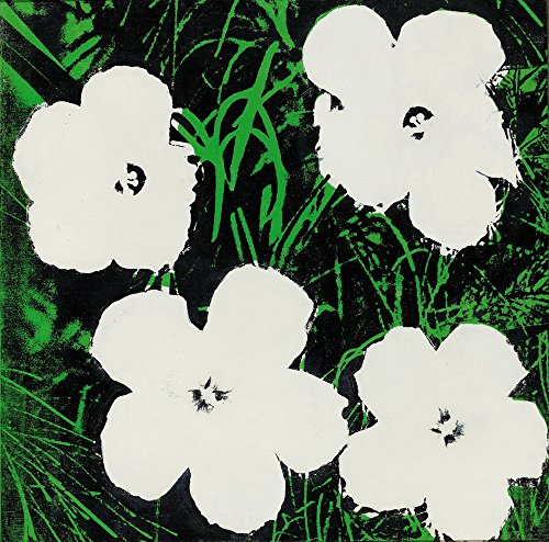Berkin Arts Andy Warhol Giclee Canvas Print Paintings Poster Reproduction Large Size(Flowers White) Andy Warhol Flower Prints