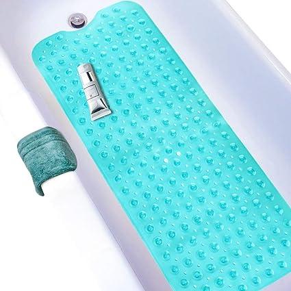 Wimaha Non-Slip Bathtub Mats Extra Long Tub Mat Bathroom Toilet Cover Shower Mat