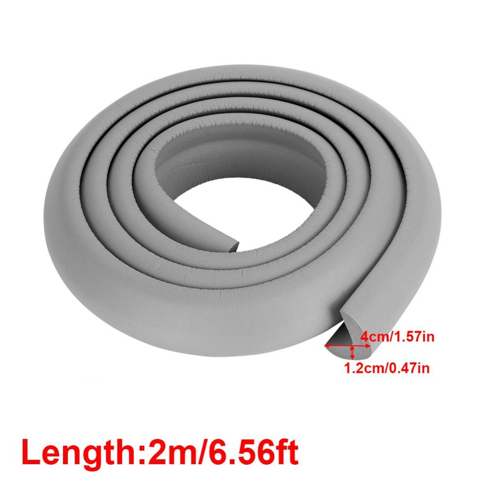 Kids Baby Safety Rubber Bumper Strip Corner and Edge Guards Protector Child Safety Baby Proofing Edge Premium Childproofing Protector Grey