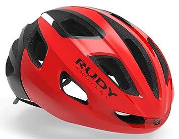 Rudy Project Strym - Casco de Bicicleta - Rojo Contorno de la Cabeza ...