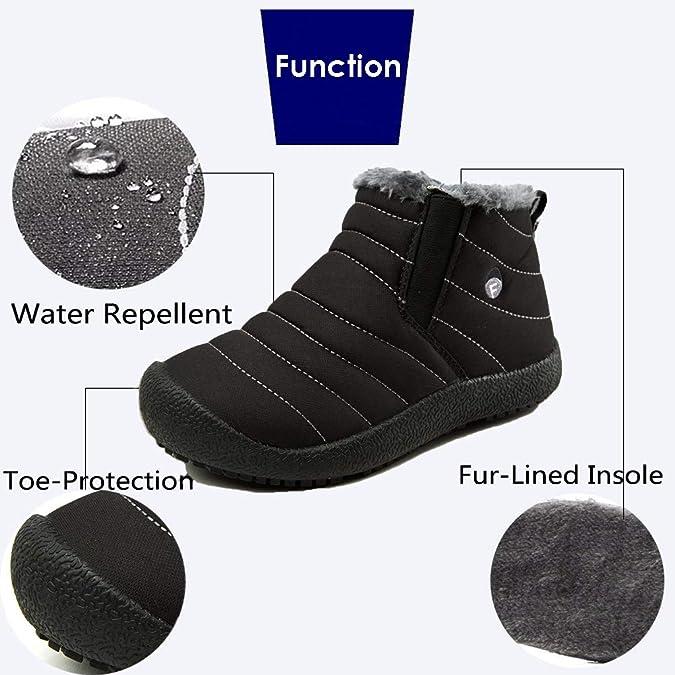 KVbaby Niños Botines Zapatos Botas de Nieve Invierno Fur Calentar Botas Al Aire Libre Boots Anti-Deslizante Zapatos Botas de Trabajo: Amazon.es: Zapatos y ...
