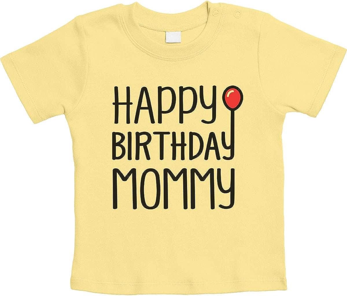 Happy Birthday Mommy Present Red Balloon Unisex Baby T-Shirt Gr 66-93