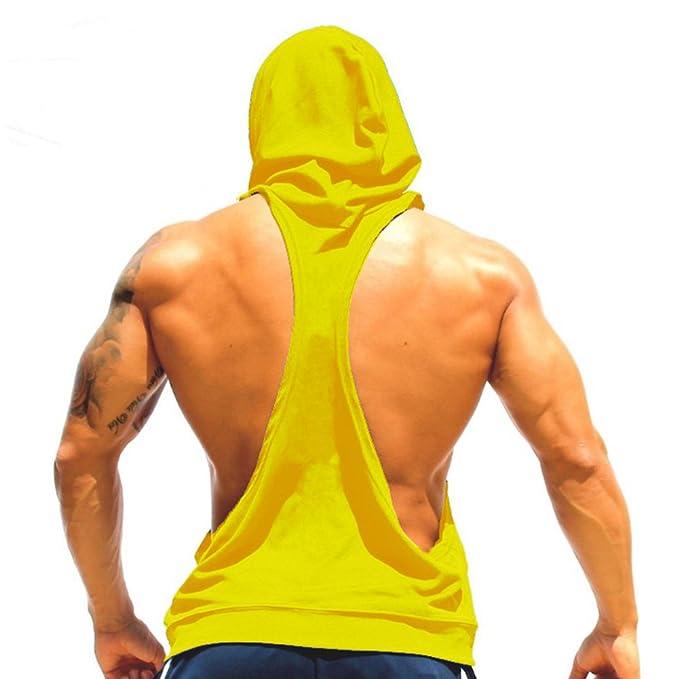 Camisa sin mangas para hombre Stringer Fitness sin mangas hibote Camiseta sin mangas para culturismo LSgTNgh2