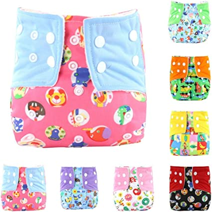 SNIIA New Positioning and Printed Design Reuseable Washable Pocket Cloth Diaper