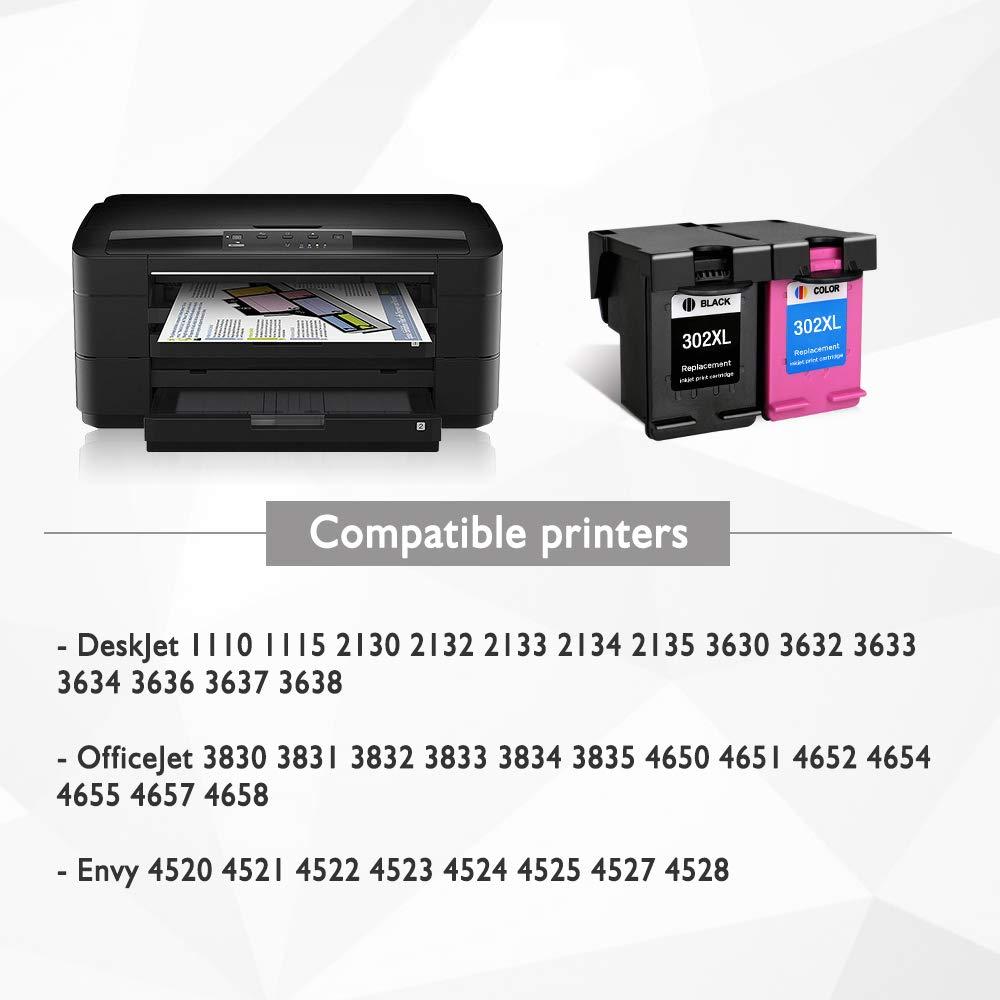 4 x Cartuchos de Tinta reciclados HP 302 XL Cartuchos de Tinta ...
