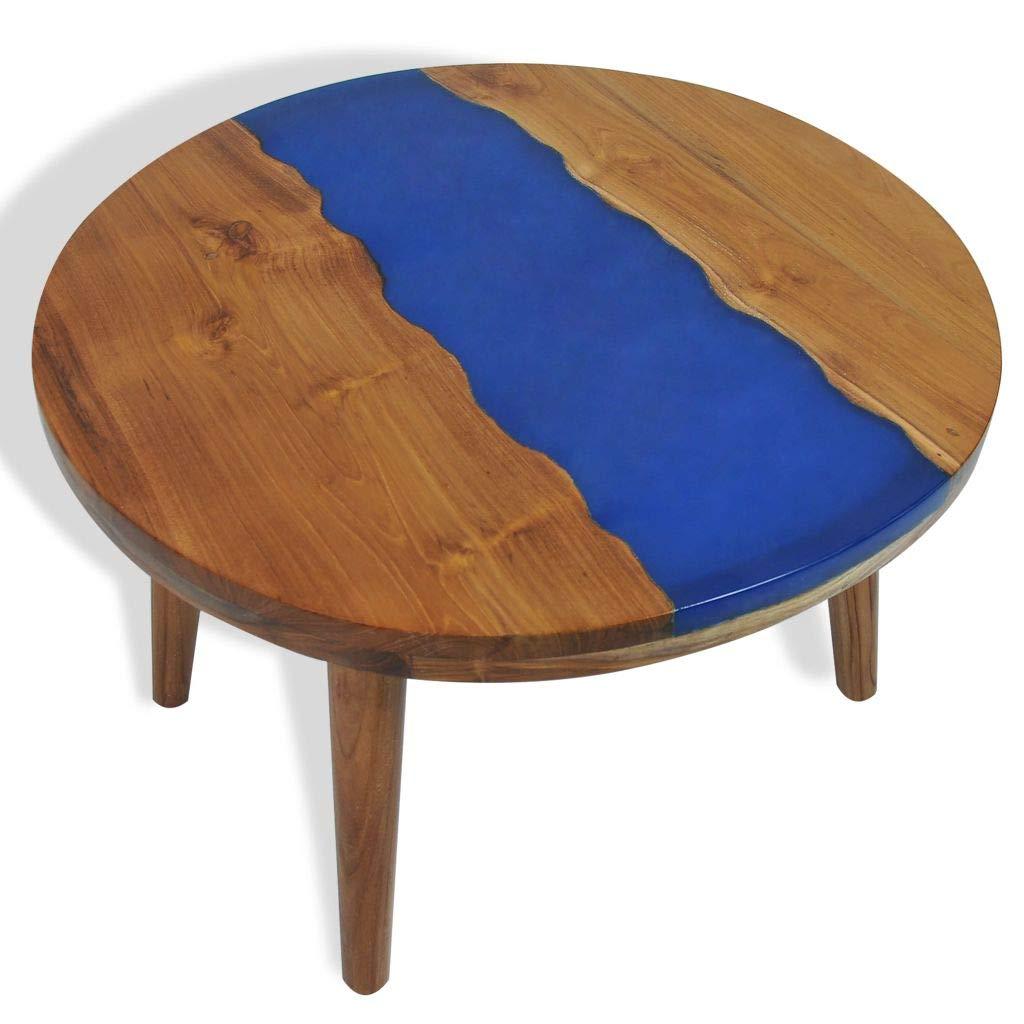 Shengtaieushop - Mesa de café (Resina, 60 x 40 cm), diseño de Teca ...