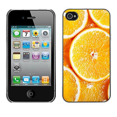 Premio Sottile Slim Cassa Custodia Case Cover Shell // V00002434 oranges en tranches // Apple iPhone 4 4S 4G