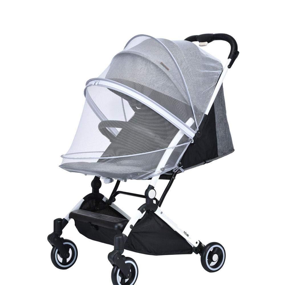 Jogging Stroller Mosquito Net, Double Zipper Stroller Bassinet Mosquito Net Elastic Universal Stroller Mosquito Net Bug Netting for Baby Car Seat, Infant Carriers, Cradles Aolvo