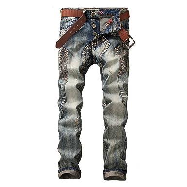 Adelina Hombre Hombre Jeans Hombres Hombre Empalme ...