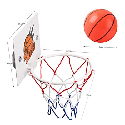 Fitfulvan Children's Wall-Mounted Small Basketball Stand Home and Office Shots: Toys & Games