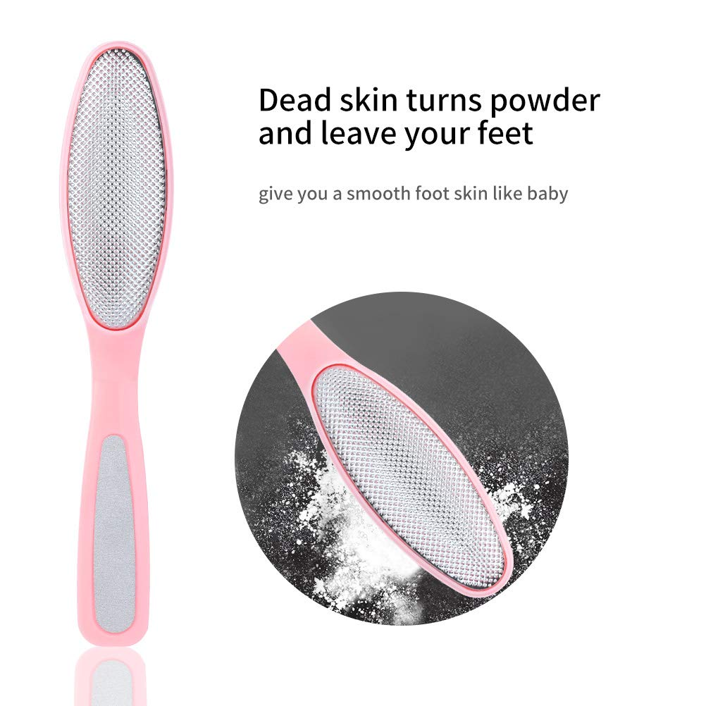 Lameila Foot File Hard Skin Remover Pedicure Tools Remove Callus Stainless Steel Portable Foot Care Tool Double Sided Pedicure RASP … (Blue)