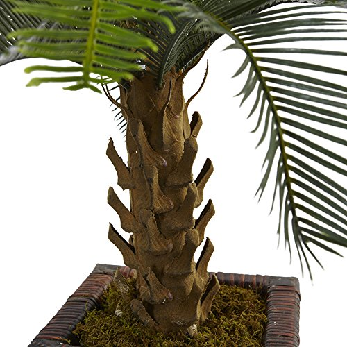 Nearly Natural 3' Cycas Artificial Tree in Wood Planter, Green by Nearly Natural (Image #1)