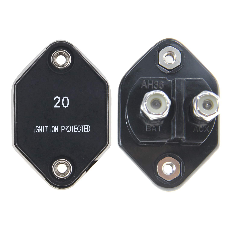 RKURCK 12V-32V DC Manual Reset Circuit Breaker Fuse Inverter 10A ...