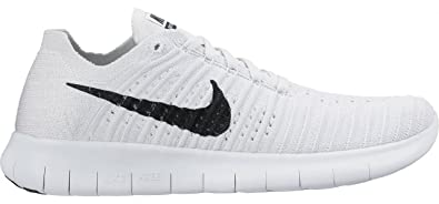 newest 6c9c4 e5c37 Image Unavailable. Image not available for. Color  Nike Women s Free  Running Motion Flyknit Shoes, White Black-pure Platinum ...