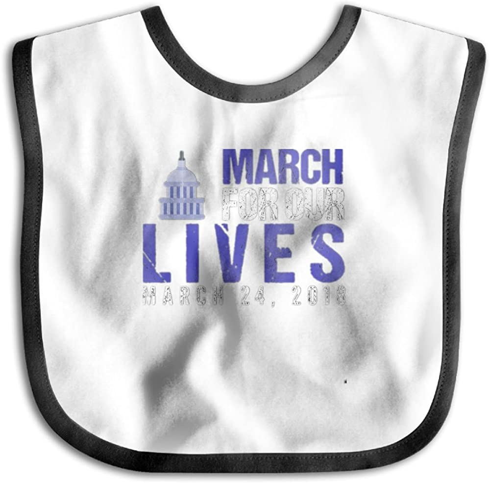Marima March For Our Lives Personalized Scarf Bib Feeding /& Teething Fancy Baby Bibs and Burp Cloth Polyester Cotton