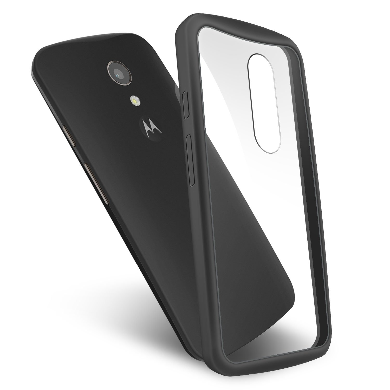 Amazon.com: ORZLY® - MOTO-G (Gen 2) - Fusion Gel Hard Case BLACK Phone Cover Skin for MOTOROLA MOTO G 2 SmartPhone (Alias: Version 2 / Generation 2 / Large ...