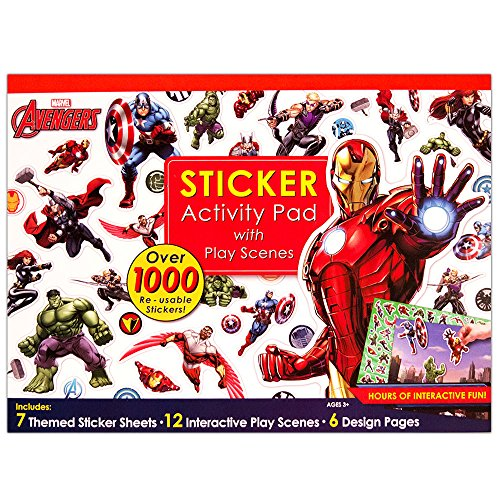 Bendon Marvel Super Heroes Ultimate Sticker Activity Pad Marvel Heroes Scene