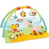 Fehn 3-D-Activity-Decke/Spielbogen mit 5 abnehmbaren Spielzeugen für Babys Spiel & Spaß von Geburt an