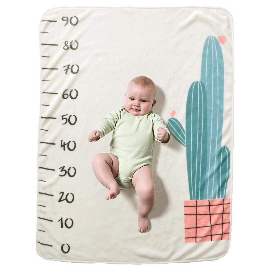 mowdat Baby Cartoon Printed Photography Backdrop Soft Baby Milesto Receiving Blankets by mowdat