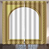 SOCOMIMI Nature Decor Curtains arch picture frame