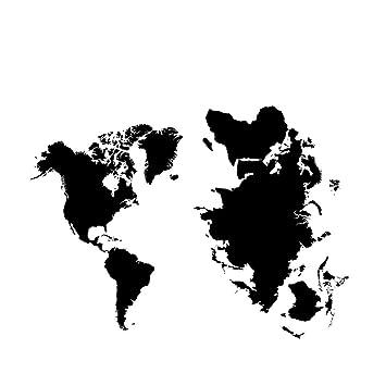 Amerika Karte Schwarz Weiß.Wandsticker 45x65cm Premium Wandtattoo Wandaufkleber Sticker