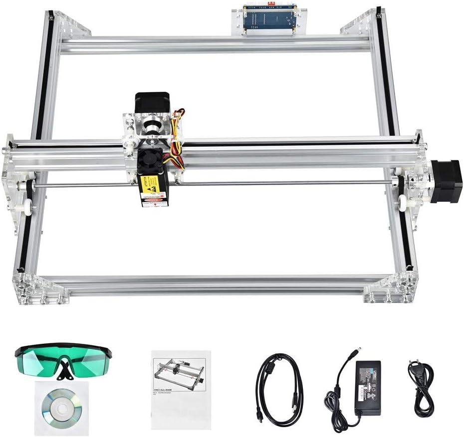 S SMAUTOP Kits de Graveur Laser Bricolage CNC 40x30cm 2 Axes avec Module 7000mW Contr/ôle GRBL Machine /à Sculpter le Bois Imprimante Laser Bricolage