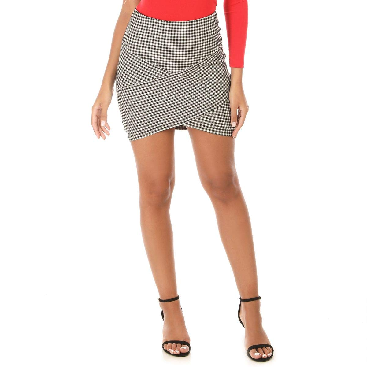La Modeuse - Falda asimétrica con diseño: Amazon.es: Ropa y accesorios
