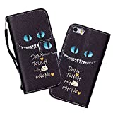 iPhone 5C Case,iPhone 5C Wallet Case,5C Case, WIITOP PU Leather Flip Wallet Case for iPhone 5C + Free Stylus(Blue Eyes)