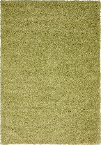 Unique Loom Solo Collection Solid Plush Kids Light Green Area Rug (5' 0 x 7' 7)