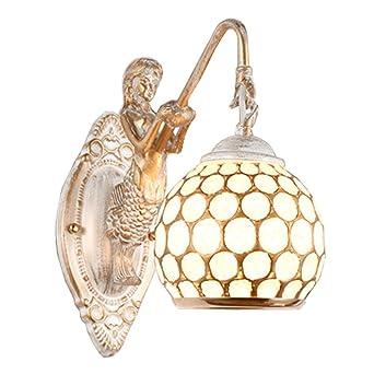Wandlampe Retro Antik Pastoral Design Eisen Kunst Blütenblatt LED ...