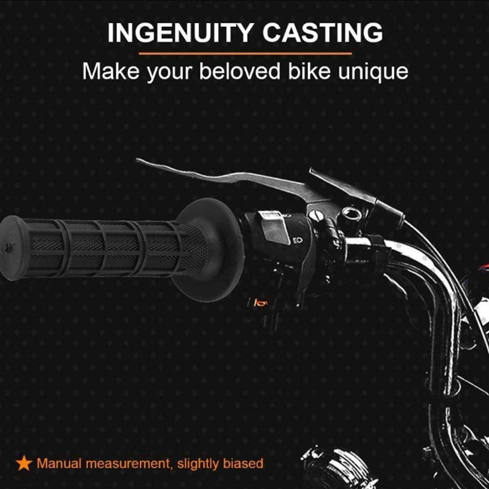 22mm Motocicleta Manillar de Repuesto de Goma,Bicicleta Silicona Pu/ños Manillar para Accesorios de Bicicleta al Aire Libre Pu/ños Acoples de Manillar para Moto