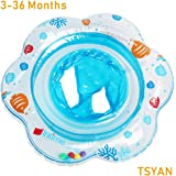 TAYAN Baby Swimming Float Inflatable Pool Infant Floating Ring with Safe Seat Double Airbag Bath Water Beach Toys Swim…