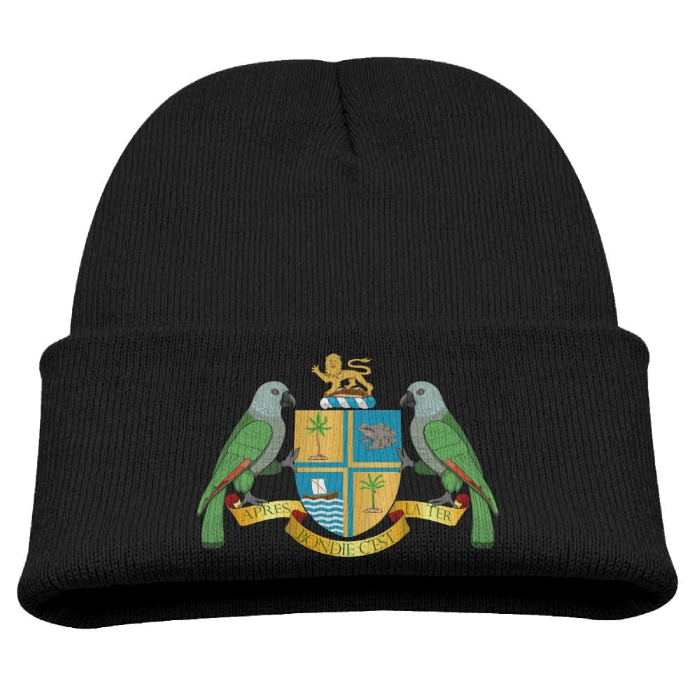 Yimo Coat-of-arms-of-Dominica Kids Casual Beanies Black