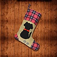 Wendsim Christmas Stocking for Pet Dog Cat with Red Bowknot Pet Stocking for Personalize (Dog)