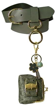 Fronhofer Ceinture pour femme à pochette porte-clés, ceinture à pochette,  boucle de 1eaf16d1db2