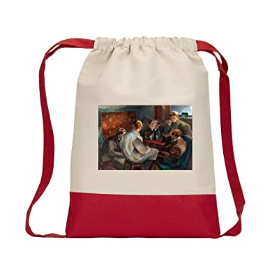 hot sale The November Group (Cawen) Canvas Backpack Color Drawstring Bag