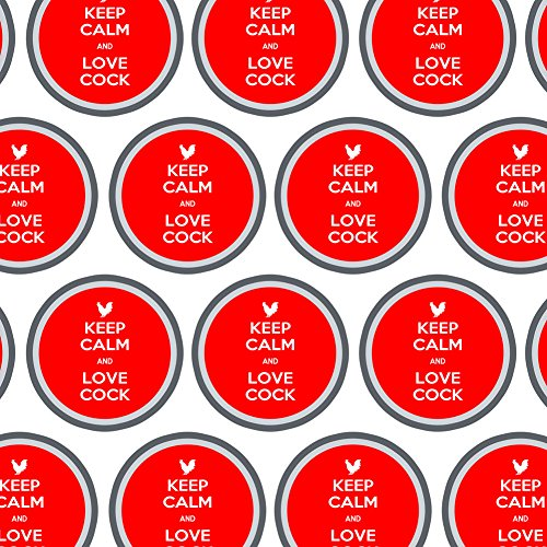 Premium Gift Wrap Wrapping Paper Roll Keep Calm and H-O - Love Cock Rooster - Keep Calm and ()