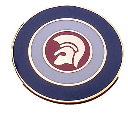 e4945a81f26 Trojan Target Circle Enamel Pin Badge (Gold): Amazon.co.uk: Clothing