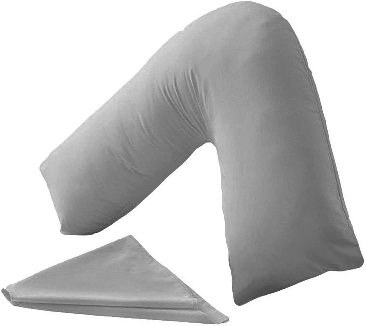 Hollowfibre Orthopedic V Shaped Pillow Back Neck Support Or Matching Pillow Case