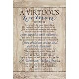Virtuous Woman...New Horizons Wood Plaque with Easel