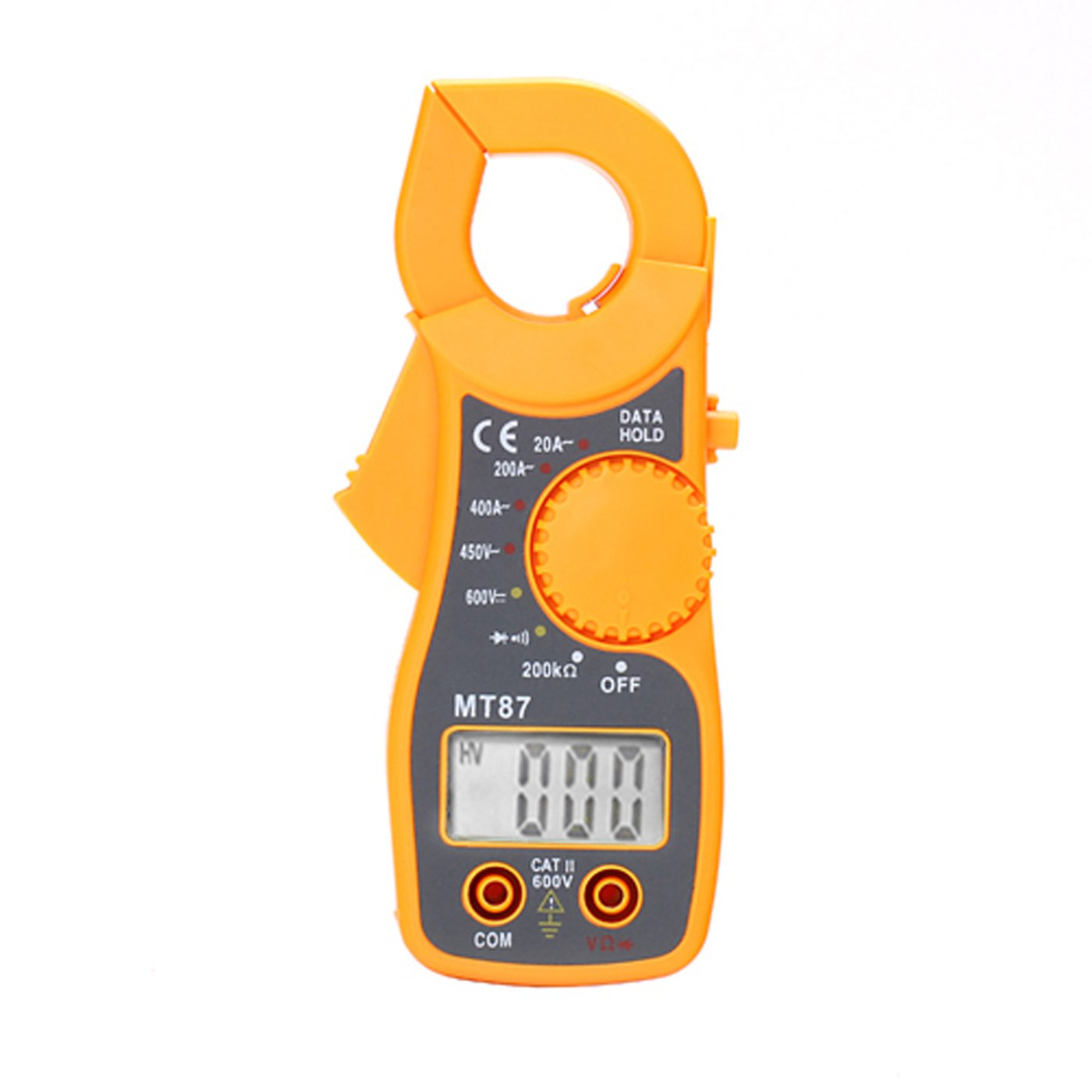 HDE Portable AC/DC Digital Voltage Multimeter Tester Electronic Clamp OHM Amp Meter with LCD Display