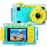 BlueFire Kids Digital Camera Mini 2 Inch Screen Children's Camera 8MP HD Digital Camera with Waterproof Case & 256M SD Card (Blue)