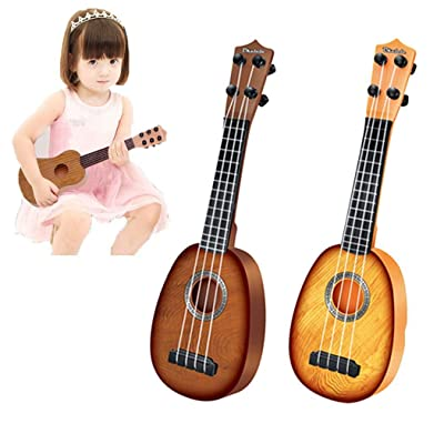 Miseku 1PCS Fashion Portable Children Toy Guitar Musical Toys Musical Instrument Jackets: Home & Kitchen