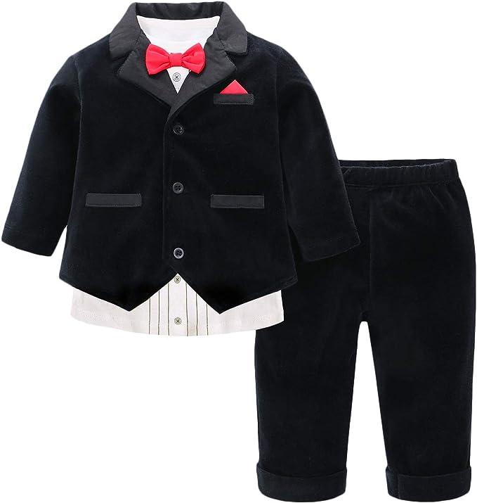 famuka Baby Anz/üge Baby Junge Sakkos Taufe Hochzeit Babybekleidung Set