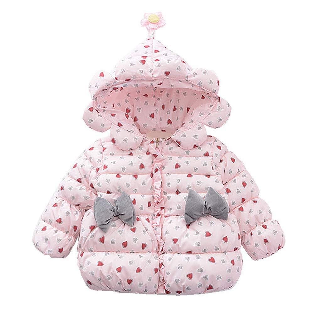 Amlaiworld Abrigos Bebe Invierno Chaqueta cálida de Invierno de Corazón Amoroso para bebés niñas niños Acolchado con Capucha Capa de Nieve 6 Mes -3 Años: ...