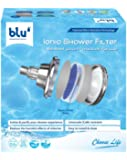 blu Ionic Shower Filter Wall Mount 7 Stage Shower Filtration System