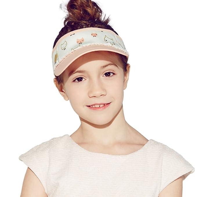 Kenmont Girls Kids Summer Topless Visor Sun Hat Outdoor Sports Topee Cap  (Orange) 401f5cc0309c