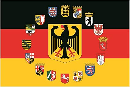 U24 Fahne Flagge Nordrhein-Westfalen Bootsflagge Premiumqualit/ät 20 x 30 cm
