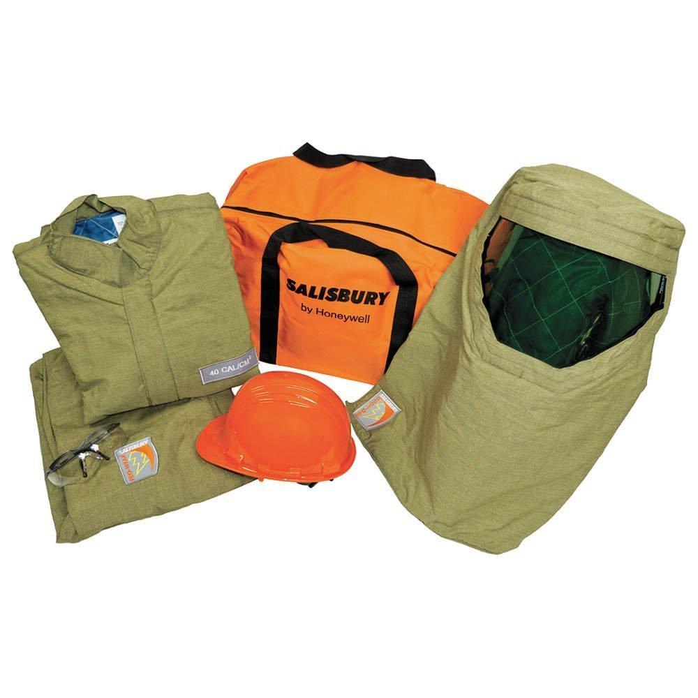 Image of Home Improvements Salisbury by Honeywell SK40LT- Arc Flash Lightweight Protective Flash Suit Kit, XL, 40 Cal/cm2; 1/Pk